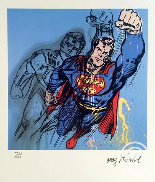 SUPERMAN   1981 (Jahr der Edition 1986), Andy Warhol