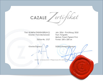 CAZALE-Zertifikat (Beispiel)