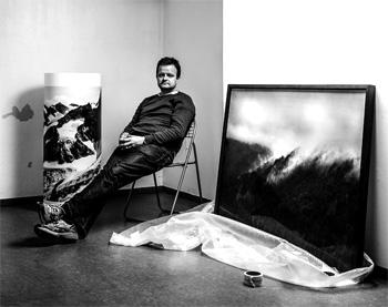Florian Richter in seinem Atelier