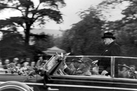 Winston Churchill in Zürich, 1946